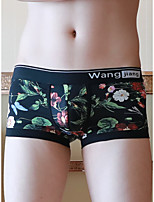 cheap -Men's Print Boxers Underwear - Normal Low Waist White Black Yellow M L XL