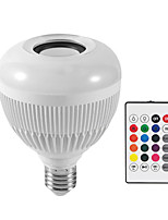 cheap -12W RGBWhite Bulb LED Lamp E27 Wireless Bluetooth Speaker Smart Led Light Music Player Audio with Remote Control Colorful Music Bulb