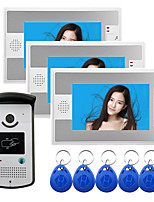 cheap -Wired 7 Inch Hands-free 800*480 Pixel Video Doorphone with RFID Unlock