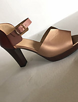 cheap -Women's Sandals Summer Stiletto Heel Open Toe Daily PU Black / Red / Brown
