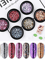 cheap -1 pcs Creative / Light and Convenient Glitter Glitter Powder Sequins For Finger Nail Creative nail art Manicure Pedicure Party / Evening / Festival Ethnic / Cute