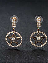 cheap -Women's Earrings Round Cut Star Stylish Korean Sweet Earrings Jewelry Rose Gold / Silver For Gift Daily Work 1 Pair