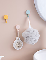 cheap -10pcs Small Hooks With Strong Adhesive Buttons Wall Hangings No Holes Traces Coat