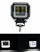cheap -3inch 12/24V 6500K 20W Square LED Work Light With White Angel Eyes Lights Spot Fog light For Car Boat Motorcycle