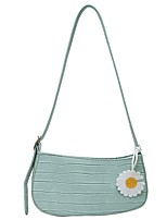 cheap -Women's Zipper / Chain PU Leather Crossbody Bag Leather Bag Floral Print Black / Yellow / Green