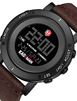 cheap -KADEMAN Men's Sport Watch Digital Modern Style Sporty Leather Water Resistant / Waterproof Calendar / date / day Alarm Clock Digital Cool Big Face - Golden / Brown Black+Gloden Black / Noctilucent