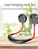 cheap -Portable Lazy Hands-free Neck Fan Band Hands-Free Hanging USB Rechargeable Dual Fan Mini Air Cooler