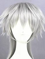 cheap -Cosplay Wig Tsurumarukuninaga Touken Ranbu Straight Cosplay Asymmetrical With Bangs Wig Medium Length Silver grey Synthetic Hair 16 inch Women's Anime Cosplay Cool Dark Gray
