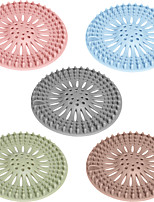 cheap -5PCS High Quality Sink Sewer Filter Floor Drain Strainer Water Hair Stopper Bath Catcher Shower Cover Kitchen Bathroom Anti Clogging Color Random
