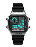 cheap -Men's Digital Watch Japanese Digital Silicone 30 m Water Resistant / Waterproof Noctilucent Day Date Digital Fashion Cool - Black Blushing Pink Gold One Year Battery Life