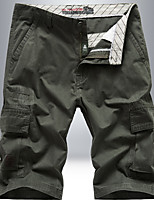 """cheap -Men's Hiking Shorts Hiking Cargo Pants Summer Outdoor 10"""" Standard Fit Breathable Quick Dry Front Zipper Sweat-wicking Cotton Shorts Bottoms Hunting Fishing Climbing Army Green Fuchsia Khaki 30 31 32"""
