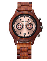 cheap -Unisex Quartz Watches Outdoor Fashion Wood Japanese Quartz Wood Black Red Adorable Analog