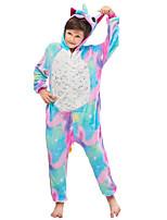 cheap -Kid's Kigurumi Pajamas Flying Horse Onesie Pajamas Flannelette Blue Cosplay For Men and Women Animal Sleepwear Cartoon Festival / Holiday Costumes