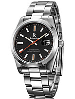 cheap -IK colouring Men's Mechanical Watch Automatic self-winding Stainless Steel Silver Water Resistant / Waterproof Day Date Analog Classic Casual - White Black