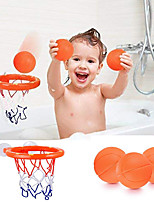 cheap -Funny Baby Shower Boy Bathroom Toys Baby Bath Toys Storage Basketball Hoop And Balls Playset Summer Toys For Kids