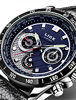cheap -LIGE Men's Sport Watch Quartz Modern Style Stylish Leather Water Resistant / Waterproof Noctilucent Analog Casual Outdoor - White Black Blue / Stainless Steel