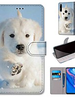cheap -Case For Huawei P40 Huawei P40 Pro Huawei P40 lite E Wallet Card Holder with Stand Full Body Cases Snow Dog PU Leather TPU for Huawei Mate 30 Lite Honor 10 Lite Honor 9A