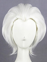 cheap -Cosplay Wig Shirou Emiya Archer Fate stay night Straight Cosplay Asymmetrical Wig Long White Synthetic Hair 26 inch Women's Anime Cosplay Best Quality White