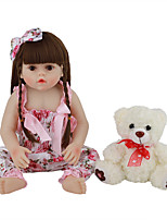 cheap -FeelWind 18 inch Reborn Doll Baby & Toddler Toy Reborn Toddler Doll Baby Girl Gift Cute Lovely Parent-Child Interaction Tipped and Sealed Nails Full Body Silicone LV075 with Clothes and Accessories