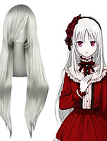 cheap -Cosplay Wig Elizabeth Liones The Seven Deadly Sins Straight Cosplay Asymmetrical With Bangs Wig Very Long Green Synthetic Hair 32 inch Women's Anime Cosplay Best Quality Green