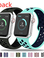 cheap -Watch Band for Apple Watch Series 5/4/3/2/1 Apple Sport Band Silicone Wrist Strap 2pcs