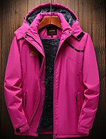 cheap -Wolfcavalry® Women's Hiking Jacket Winter Outdoor Waterproof Windproof Fleece Lining Breathable Top Full Length Hidden Zipper Hunting Fishing Climbing Black / Fuchsia / Warm