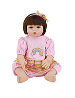 cheap -FeelWind 18 inch Reborn Doll Baby & Toddler Toy Reborn Toddler Doll Baby Girl Gift Cute Lovely Parent-Child Interaction Tipped and Sealed Nails Full Body Silicone with Clothes and Accessories for