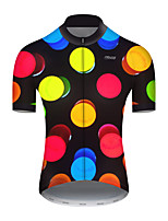 cheap -21Grams Men's Short Sleeve Cycling Jersey Nylon Polyester Black / Red Polka Dot 3D Gradient Bike Jersey Top Mountain Bike MTB Road Bike Cycling Breathable Quick Dry Ultraviolet Resistant Sports