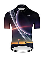 cheap -21Grams Men's Short Sleeve Cycling Jersey Nylon Polyester Black / Yellow 3D Rocket Bike Jersey Top Mountain Bike MTB Road Bike Cycling Breathable Quick Dry Ultraviolet Resistant Sports Clothing