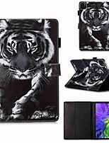 cheap -Case For Apple iPad Pro 11''(2020) / iPad 2019 10.2 / Ipad air3 10.5' 2019 Wallet / Card Holder / with Stand Black and White Tiger PU Leather / TPU for iPad Air / iPad Air2 / iPad (2018)