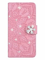 cheap -Case For Huawei P smart 2020 Huawei P40 lite Huawei P20 lite Card Holder with Stand  Flip Full Body Cases Flower PU Leather for  Y5 2019 Y9 2019 Mate30 pro