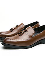 cheap -Men's Spring / Fall Business / Casual Party & Evening Office & Career Loafers & Slip-Ons Leather Black / Brown / Tassel