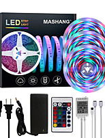 cheap -MASHANG Bright RGBW LED Strip Lights 15M(3*5M) Waterproof RGBW Tiktok Lights 3510LEDs SMD 2835 with 24 Keys IR Remote Controller and 100-240V Adapter for Home Bedroom Kitchen TV Back Lights DIY Deco