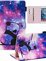 cheap -Case For Apple iPad Mini 3/2/1 / iPad Mini 4 / iPad Mini 5 Wallet / Card Holder / with Stand Full Body Cases Panda PU Leather / TPU