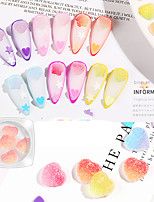 cheap -1 pcs Color Gradient / Durable Soft Plastic Nail Jewelry For Finger Nail Heart nail art Manicure Pedicure Daily / Festival Romantic / Sweet