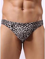 cheap -Men's Print G-string Underwear - Normal Low Waist Black Yellow Brown M L XL