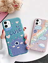 cheap -Case For Apple iPhone 11 / iPhone 11 Pro / iPhone 11 Pro Max Shockproof / Pattern Full Body Cases / Bumper Animal / Cartoon TPU