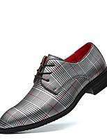 cheap -Men's Summer / Fall Classic / Casual Daily Office & Career Oxfords Faux Leather Non-slipping Wear Proof White / Black