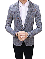 cheap -Tuxedos Standard Fit Notch Single Breasted One-button Cotton / Polyester Solid Colored