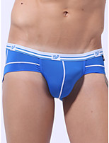 cheap -Men's Basic Briefs Underwear - Normal Low Waist White Black Blue S M L
