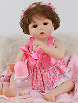 cheap -FeelWind 18 inch Reborn Doll Baby & Toddler Toy Reborn Toddler Doll Baby Girl Gift Cute Lovely Parent-Child Interaction Tipped and Sealed Nails Full Body Silicone LV019 with Clothes and Accessories
