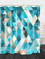 cheap -Rhombus Colorful Digital Print Waterproof Fabric Shower Curtain for Bathroom Home Decor Covered Bathtub Curtains Liner Includes with Hooks