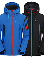 cheap -Men's Hiking Fleece Jacket Winter Outdoor Waterproof Windproof Breathable Warm Softshell Jacket Single Slider Hunting Fishing Climbing Black / Red / Blue / Dark Navy / Camping / Hiking / Caving