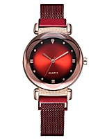 cheap -Women's Quartz Watches Quartz Stylish Fashion Casual Watch Black / Blue / Purple Analog - Rose Gold Black Blue One Year Battery Life