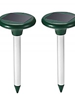 cheap -2Pcs Solar Power Ultrasonic Repeller Snake Gopher Repeller Mice Rats Rodent for Lawn Garden Yards Eco-Friendly