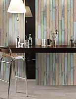 cheap -Simulation Fir Pattern Floor Stickers Color Wall Stickers Pvc Waterproof Wear-resistant Thickening Stickers Rainbow Color Wood Grain