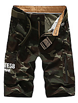"cheap -Men's Hiking Shorts Hiking Cargo Pants Camo Summer Outdoor 10"" Standard Fit Breathable Quick Dry Front Zipper Sweat-wicking Cotton Shorts Bottoms Hunting Fishing Climbing Army Green Khaki Royal Blue"
