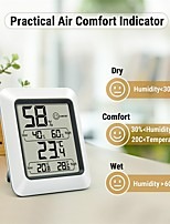cheap -LITBest Household electronic digital temperature and humidity meter Other measuring instruments -50-300(℃) Cute / Lightweight / Convenient