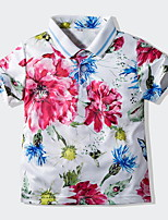 cheap -Kids Toddler Boys' Street chic Floral Short Sleeve Tee White