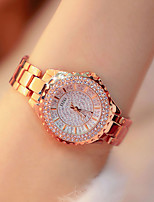 cheap -Women's Quartz Watches Antique Fashion Silver Gold Rose Gold Alloy Chinese Quartz Rose Gold Gold Silver Imitation Diamond Lovely 1 pc Analog One Year Battery Life